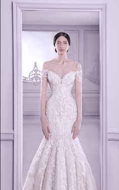 Off shoulder couture wedding gown, Spring/Summer collection // Immaculate Couture: Michael Cinco's 2014 Wedding Collections