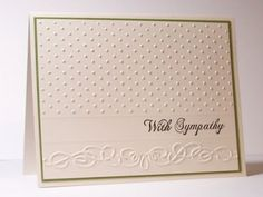 My Stamping Addiction: Embossed Sympathy - Cuttlebug Organic Flourish 37-1922 & Swiss Dots 37-1604
