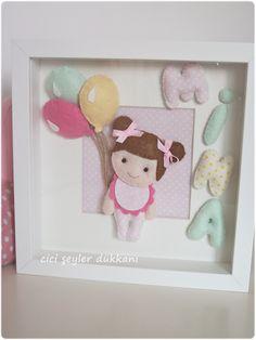Mina bebek için hazırlanan duvar panosu...