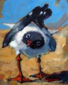Rick Nilson's Paintings: Inquiring Gull (SOLD)