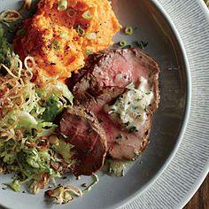 Roast Beef Tenderloin with Cognac Butter Recipe | Cooking Light #myplate #protein #dairy