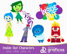6 Inside Out Character Disney Pixar SVG layer and images .eps files, collection Intensamente Clipart handcrafted in scalable format Disney Cruise, Disney Pixar, Deadpool Animated, Inside Out Poster, Inside Out Characters, Elsa, Digital Illustration, Attendance Certificate, Chibi