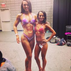 Chelsea & I at our 1st Bikini & Figure comp. She placed 5th in her class which is still wonderful & I placed 1st in my class.