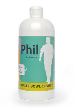 A toilet bowl cleaner that smells like fresh herbs! It's Phil by Eco-Me. Family and Pet Safe Products.