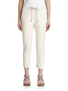 $3240.00 Now $1944.00 Cucinelli Leather Drawstring Pants