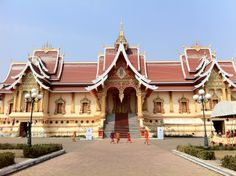 Impressive hall/building next to the Pha That Luang Wat in Vientiane, Laos.