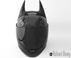 Batman-Inspired Motorcycle Helmet - I will now buy a motorcycle just to wear this! (jk, that would be bad)
