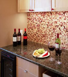 Cork wall for wine area
