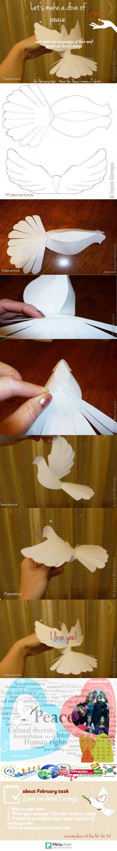 Paloma de papel para adornar boda  bautizo