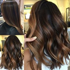 👩🏻🎨❤ 🍂FALL TONES🍂✨Cocoa Creme toned ✨PaintedHair✨❤🍁👩🏻🎨 P. If you want your stylist to recreate this look you have to be ok with warmth in your hair (Yes ladies, that means golden tones 🌟)!🍂❤ I suggest Gb, G, & WB in b Brown Hair Balayage, Hair Highlights, Ombre Hair, Bayalage, Ethiopian Hair, Biolage Hair, Hair Painting, Brunette Hair, Great Hair