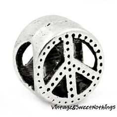 25+ Antique Silver Textured Peace Euro Beads -PA. Starting at $1 on Tophatter.com!