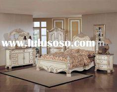 Antique White Distressed Bedroom Furniture   ... Luxurious Classic Antique White Bedroom Design Furniture B Model - via