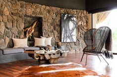 epic interiors by; South African designer  Boyd Ferguson '... 'Out of Africa a 1stdibs Introspective'