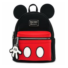online shopping for Disney Mickey Mouse Suit Mini Saffiano Faux Leather Mini Backpack (Black/Red) from top store. See new offer for Disney Mickey Mouse Suit Mini Saffiano Faux Leather Mini Backpack (Black/Red) Mochila Mickey Mouse, Mickey Mouse Backpack, Mini Disney, Disney Mickey, Walt Disney, Disney Travel, Cute Mini Backpacks, Boys Backpacks, School Backpacks