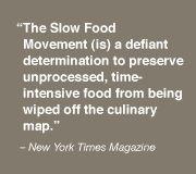 Slow Food Rebel, that's me.
