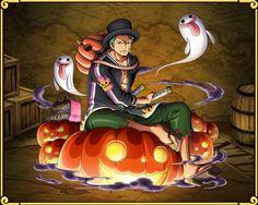 Roronoa Zoro Jack the Ripper --- Roronoa Zolo, One Piece Halloween. One Piece Treasure Cruise, OPTC Zoro One Piece, One Piece Fanart, One Piece Manga, Roronoa Zoro, Good Anime To Watch, One Piece Chapter, Anime Halloween, One Piece Images, Nico Robin