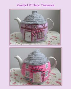 A crochet pattern for 2 styles of cottages inspired by the quaint cottages of Suffolk pattern available on Ravelry