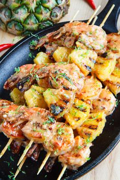 Keep this pineapple sweet chili sauce on hand all summer long — you never know when you'll get a craving for it! Get the recipe for Grilled Coconut and Pineapple Sweet Chili Shrimp Kabob Recipes, Shrimp Recipes, Grilling Recipes, Chicken Recipes, Cooking Recipes, Healthy Recipes, Best Grill Recipes, Grilled Fish Recipes, Fast Recipes