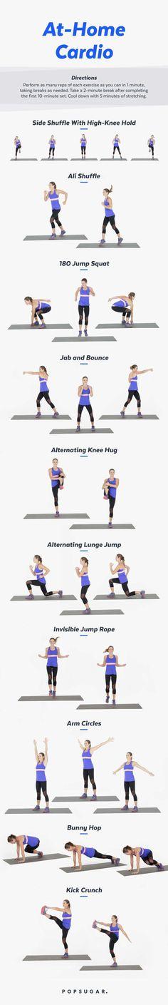 Printable At-Home Cardio Workout