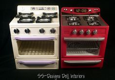 Kitchen Littles Stoves Comparison by SS-Designs Doll Interiors, via Flickr 1:6th Scale