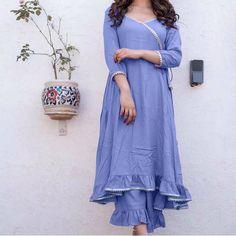 A Line Kurti, Indian Kurta, Latest Dress, Bollywood Fashion, The Dress, Types Of Fashion Styles, Wholesale Clothing, Jaipur, Cotton Dresses