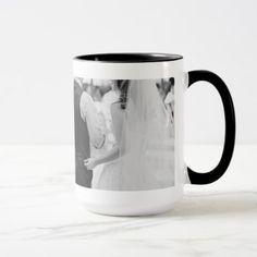 15oz Combo Custom Coffee Wedding1 Mug By Zazz_it - black gifts unique cool diy customize personalize