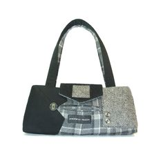 Recycled / upcycled suit coat handbag  Chase No.112 by mandinka, $120.00