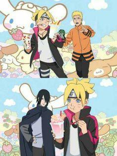 Kurama Susanoo, Boruto And Sarada, Sasunaru, Naruto And Sasuke, Naruhina, Anime Naruto, Naruto Shippuden, Familia Uzumaki, Uzumaki Family