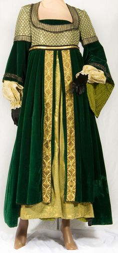 Deluxe Renaissance Gown 15th Century with Byzantine Influence