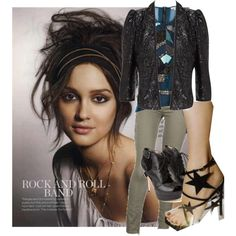 Rock n-roll by pwejones on Polyvore featuring polyvore fashion style Dagmar Blank Denim Sam Edelman Yves Saint Laurent