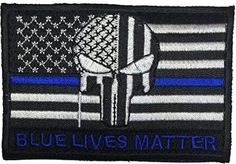 Great Punisher Blue Lives matter Tactical Patch. Perfect for our Police Officer…