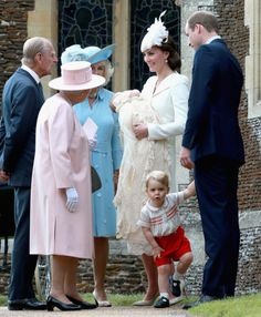 All the latest pictures as family and friends of the Duke and Duchess of   Cambridge gather for the christening of their daughter, Princess Charlotte