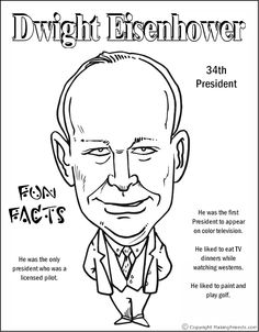Epic Coloring Pages Of Presidents 47 Dwight Eisenhower Coloring Page