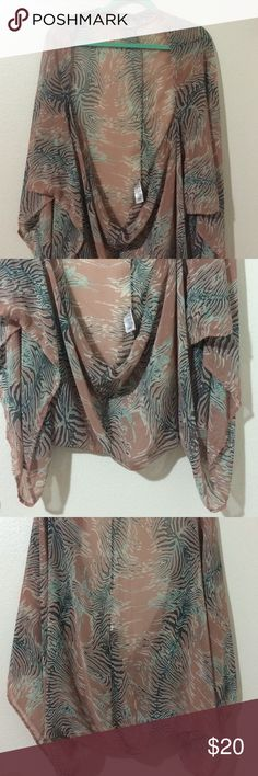 Printed Kimono - light and fun! Worn only a couple times. In great condition! I got numerous compliments the few times I've worn it. Forever 21 Tops Blouses