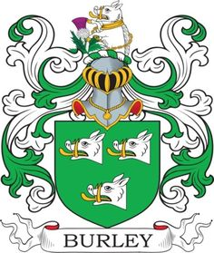 Burley Coat of Arms Meanings and Family Crest Artwork