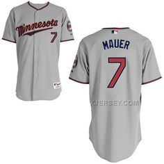 http://www.xjersey.com/twins-7-mauer-grey-cool-base-jerseys.html TWINS 7 MAUER GREY COOL BASE JERSEYS Only $43.00 , Free Shipping!