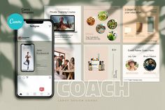 COACH - Canva Instagram Template by LEROY Design on @creativemarket Coach Instagram, Instagram Creator, Instagram Posts, Instagram Feed, Mood Board Creator, The Creator, Instagram Story Template, Instagram Templates, Being Used Quotes