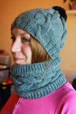Kötött sapka és nyakmelegítő szett Knitted Hats, Winter Hats, Knitting, Accessories, Fashion, Cold, Long Scarf, Moda, Tricot