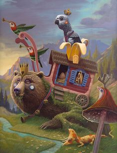 Illustration by Antonio Segura Donat Modern Surrealism, Pop Surrealism, Candy Art, Eye Candy, Save The Whales, Surreal Art, Contemporary Artists, Fantasy Art, Original Artwork