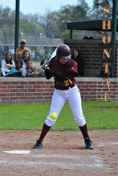 New Boston Lady Lion, #21 Shontal Estell is a sophomore playing a rotation at left field.