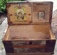 Antique Trunks | Collectibles-General (Antiques): Antique Trunk, snapf, antique trunk