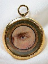 Eye Miniature Portrait  Gerald Sinclair Hayward (1845-1926), a Canadian miniature painter  1905    Late for eye miniatures, it is dated 1905 and is also quite unusual that it is a man's eye.