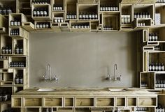 Aesop's Fillmore St. location is the first on the West Coast, which features 600 recycled pine boxes.