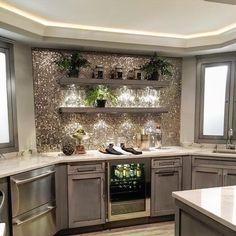 """630 """"Μου αρέσει!"""", 47 σχόλια - SUMMER (@sumhouse_sumwear) στο Instagram: """"It's 5 o'clock sumwhere!! But our lower level bar is always open! There's no place like home. …"""" Glitter Grout, Glitter Nails, Glitter Timberlands, Nail Designs, Kitchen Cabinets, Home Decor, Glitter Accent Nails, Nail Desings, Kitchen Cabinetry"""
