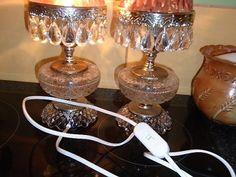 Prodám dvě krásné svítící lampy, cena za
