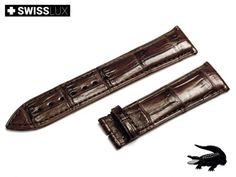 Genuine Alligatorleather Strap for ROLEX watches (for tongue buckle or clasp). Watch band is made of premium quality alligator leather with a slightly glossy finish. Crocodile, Watch Bands, Omega Watch, Rolex Watches, Dark Brown, Leather, Ebay, Crocodiles, Watch Straps