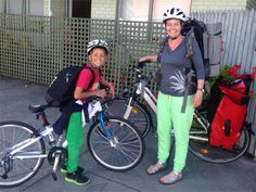 Jayne and Miles packed and ready for the Great Vic Bike Ride