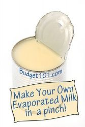 Make Your Own Evaporated Milk (This would work well for me, since I always have powdered milk on hand for drink and baking mixes.) Learn how to make your own evaporated milk in less than 2 minutes with this simple, do it yourself recipe Evaporated Milk Recipes, Substitute For Evaporated Milk, Heavy Cream Substitute, Homemade Spices, Homemade Cake Mixes, Homemade Seasonings, Homemade Butter, Homemade Food, Food Substitutions