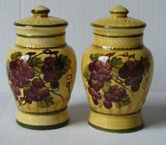 Sonoma Collection Deluxe Handcarfted Salt & Pepper Shaker Set by ecWorld. Save 41 Off!. $17.71. Available in Tuscan, Red Antigua, Gold Sunflower, or Classic Rooster motif. Handcrafted and hand-painted by expert craftsmen / Microwave and dishwasher safe. These pieces are designed to bring a touch of Old World charm to any setting / High quality ceramic construction. Looking good enough to eat, our vibrant Sonoma ceramic ware collection is hand-painted with clusters of juicy purple grapes...