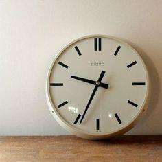 seiko clock white